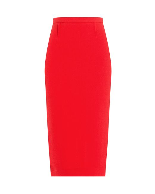 Roland Mouret   Женское Красный Wool Crepe Pencil Skirt Gr. Uk 10