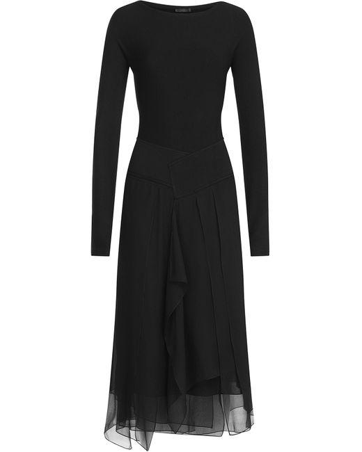 Donna Karan | Женское Чёрный Dress With Chiffon Gr. M