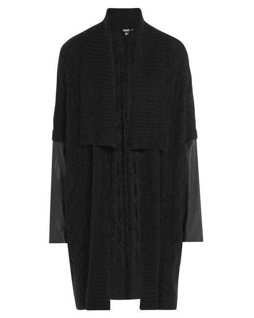 DKNY | Женское Чёрный Cardigan With Alpaca Mohair And Leather Gr.