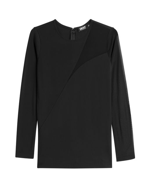 DKNY   Женское Чёрный Top With Sheer Insert Gr. M