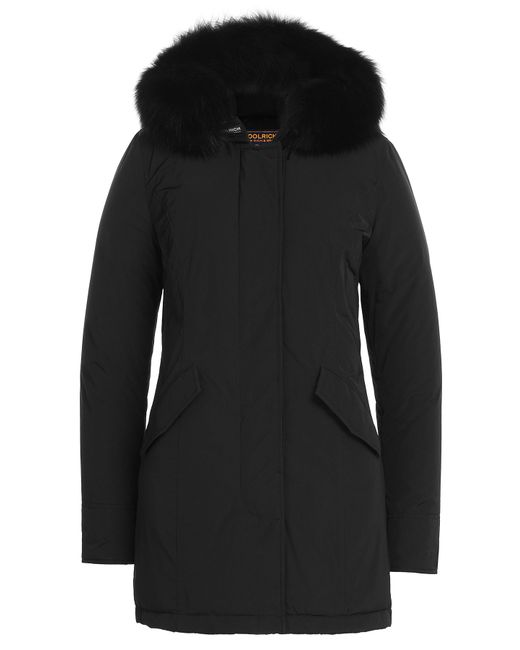 Woolrich | Женское Чёрный Luxury Fox Arctic Parka With Fur-Trimmed Hood