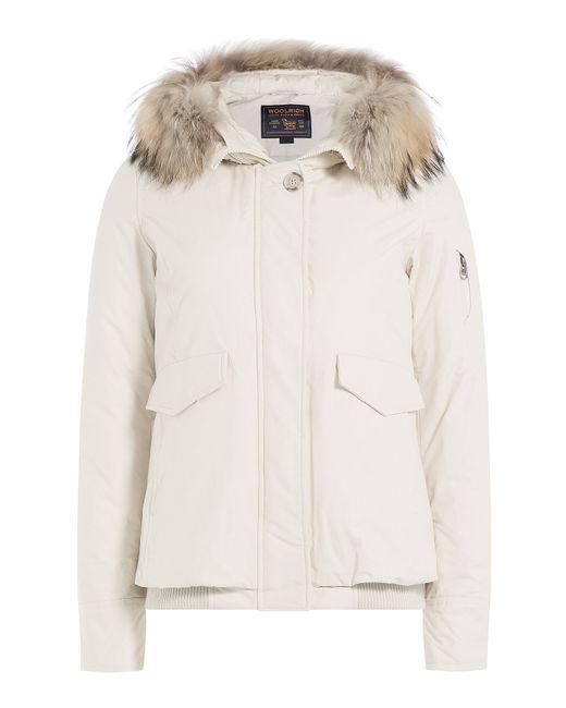Woolrich | Женское Белый Campton Down Jacket With Fur-Trimmed Hood Gr.