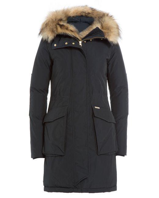 Woolrich   Женское Синий Military Eskimo Down Parka With Fur-Trimmed Hood