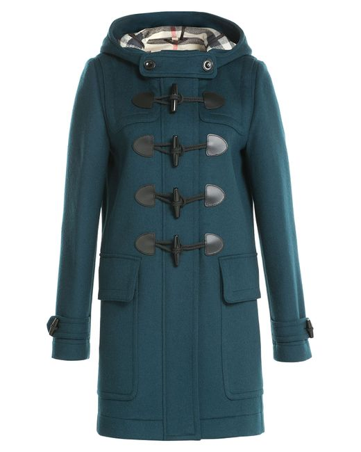 Burberry Brit | Синий Wool Duffle Coat Gr. Uk 12