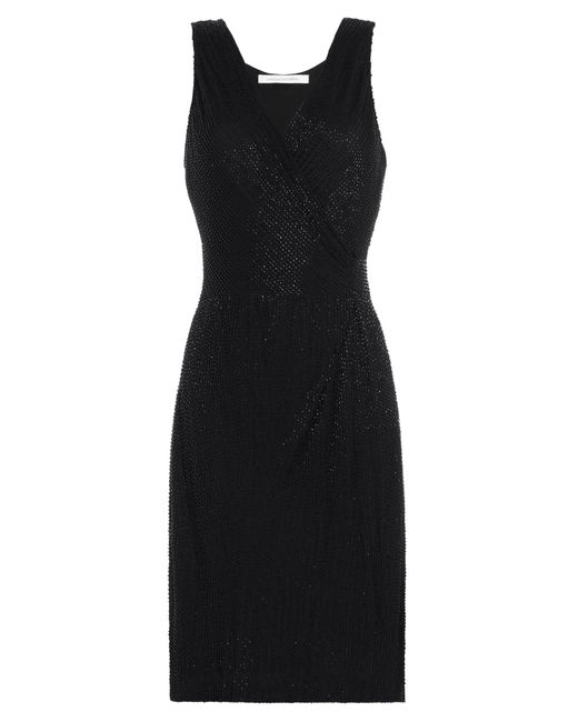 Diane Von Furstenberg | Женское Чёрный Embellished Silk Dress Gr. Us 6