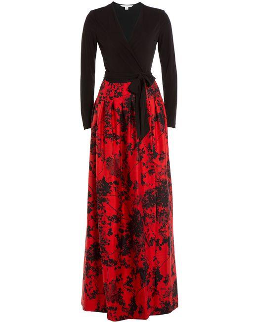 Diane Von Furstenberg | Женское Многоцветный Wool-Silk Dress With Maxi Skirt Gr. Us