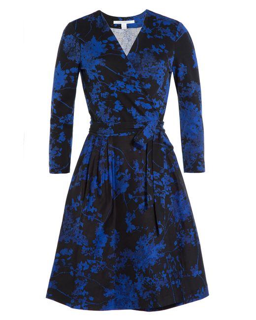 Diane Von Furstenberg | Женское Цветочный Wool-Silk Wrap Dress Gr. 0