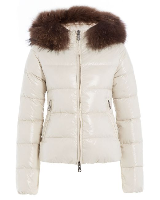 Duvetica | Женское Белый Down Jacket With Fur-Trimmed Hood Gr. It