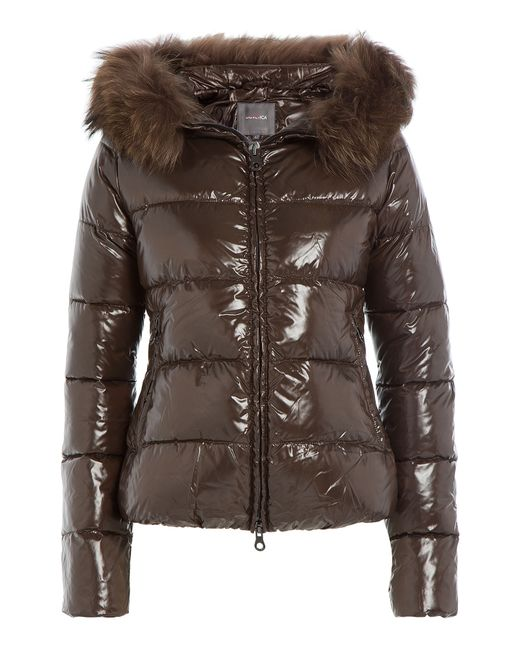 Duvetica | Женское Коричневый Down Jacket With Fur-Trimmed Hood Gr. 38