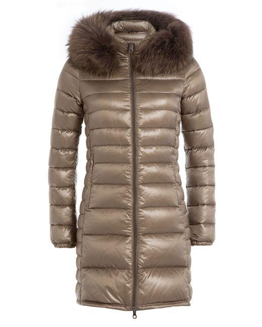 Duvetica   Женское Золотой Down Jacket With Fur-Trimmed Hood Gr. It