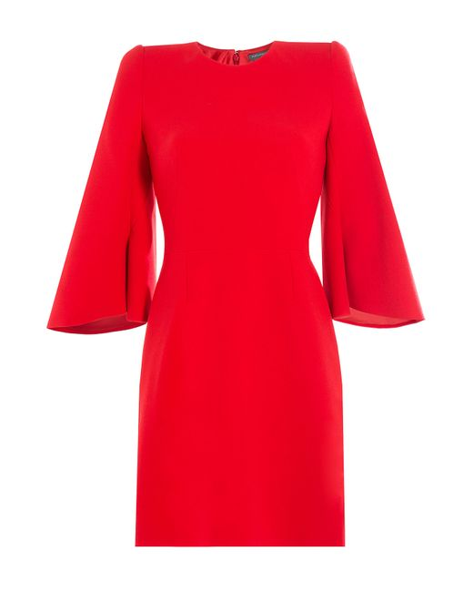 Alexander McQueen | Женское Красный Dress With Flared Sleeves Gr. It 40
