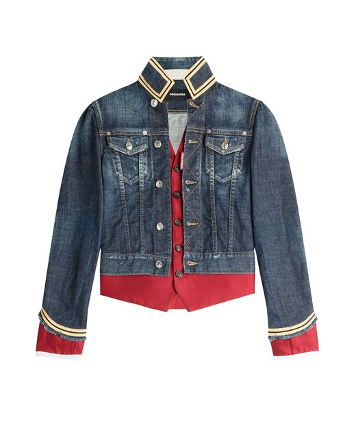 Dsquared2 | Синий Military Style Denim Jacket Gr. It 38