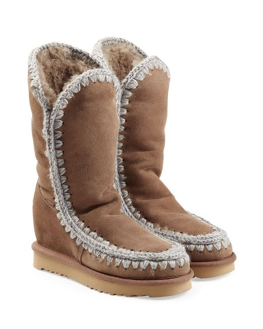 Mou | Женское Бежевый Eskimo Wedge Tall Sheepskin Boots Gr. 38