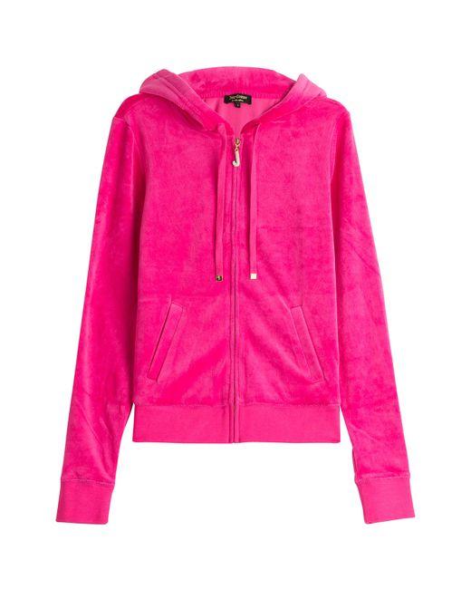 Juicy Couture | Женское Розовый J Bling Velour Hoodie Gr. S