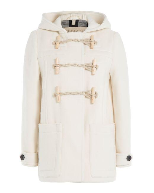 Burberry Brit   Женское Белый Wool Duffle Jacket Gr. Uk 12