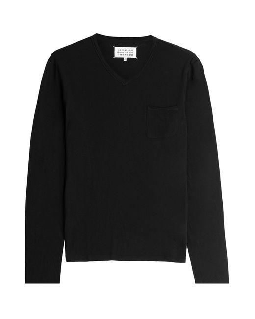 Maison Margiela | Мужское Чёрный Long Sleeved Cotton Top Gr. 48