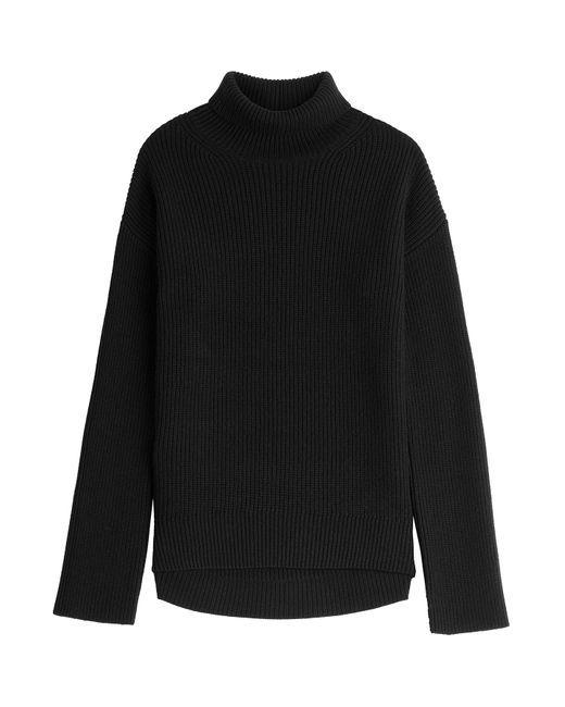 Helmut Lang | Женское Чёрный Ribbed Wool-Cashmere Turtleneck Gr. Xs