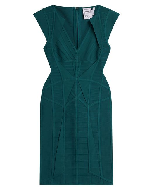 Hervé Léger | Женское Türkis Cap Sleeve Bandage Dress Gr. S