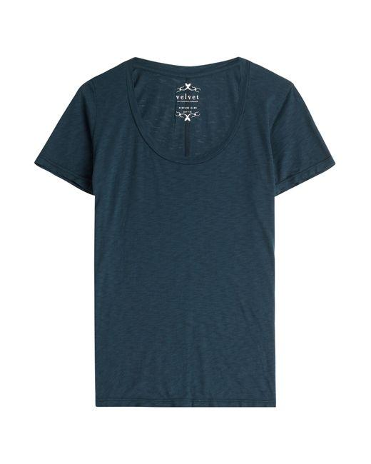 Velvet | Женское Blau Jersey T-Shirt Gr. S