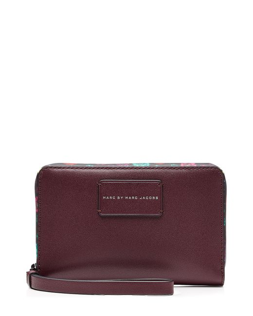 Marc by Marc Jacobs x Disney   Женское Многоцветный Ditsy Flower Wingman Leather Wallet Gr. One