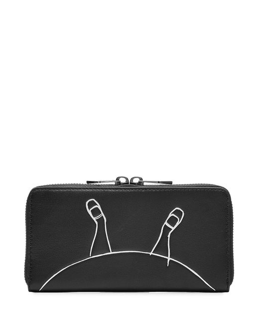 Marc by Marc Jacobs x Disney | Женское Schwarz Alice Zip Around Leather Wallet Gr. One