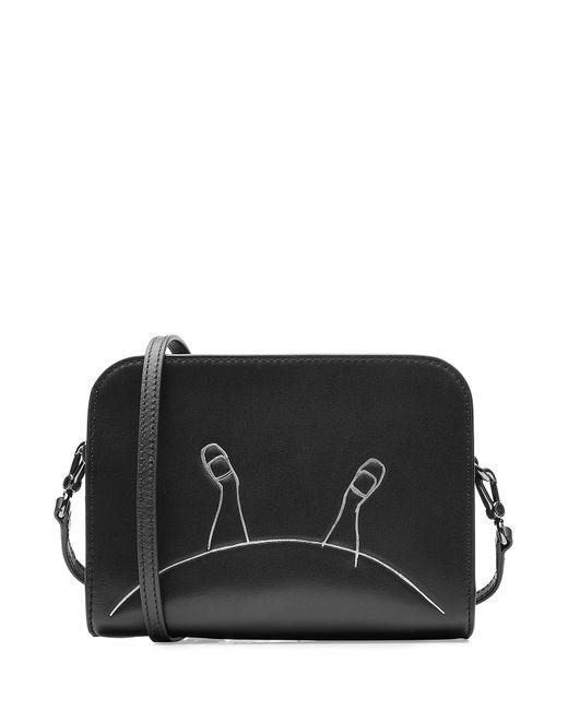 Marc by Marc Jacobs x Disney | Женское Schwarz Alice Printed Leather Shoulder Bag Gr. One