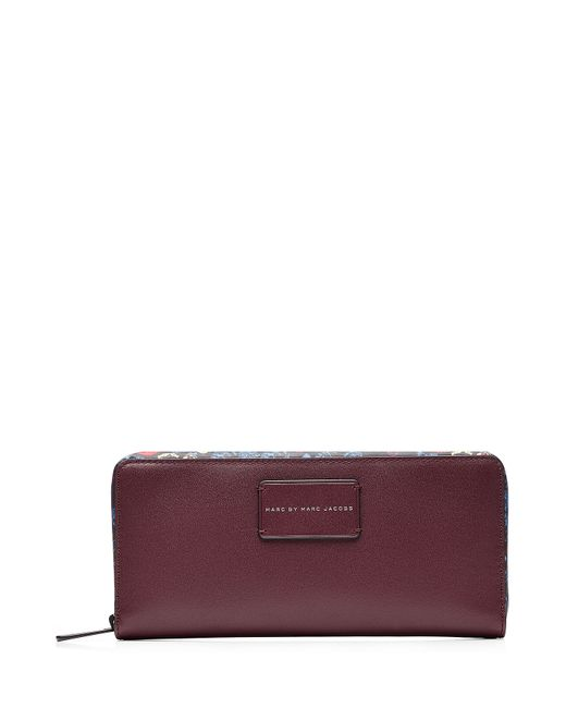 Marc by Marc Jacobs x Disney | Женское Многоцветный Ditsy Flower Zip Around Leather Wallet Gr.