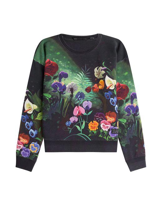 Marc by Marc Jacobs x Disney | Женское Flower Garden Printed Cotton Sweatshirt Gr. M