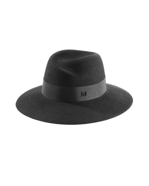 Maison Michel | Женское Schwarz Virgin Wool Hat Gr. M