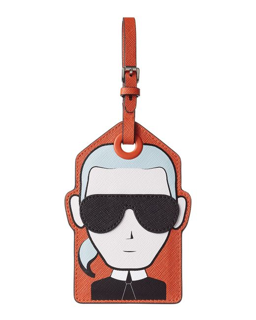 Karl Lagerfeld | Женское Многоцветный Karl Leather Luggage Tag Gr. One Size
