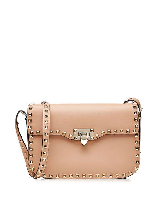 Valentino | Женское Бежевый Leather Rockstud Shoulder Bag Gr. One Size
