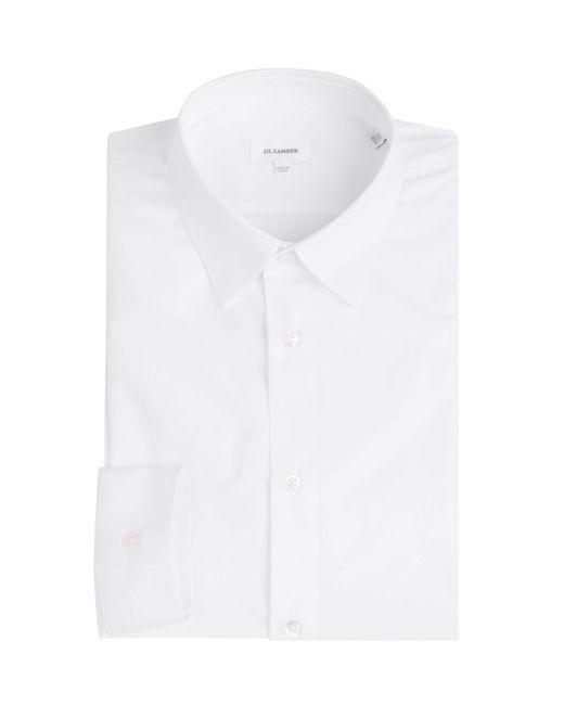 Jil Sander | Weiß Cotton Shirt Gr. 40