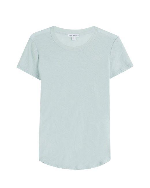 James Perse | Женское Türkis Cotton T-Shirt Gr. 2