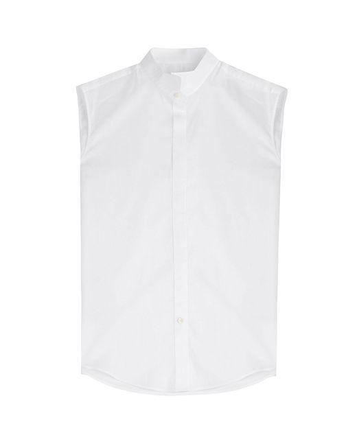 Maison Margiela | Женское Weiß Cotton Voile Sleeveless Shirt Gr. 38