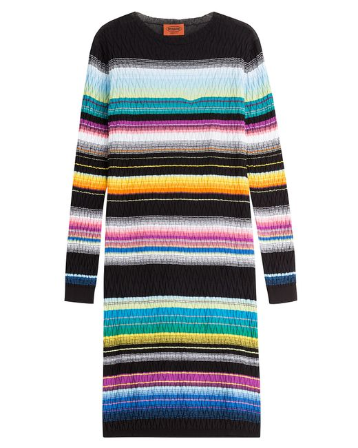 Missoni | Женское Многоцветный Stripped Knit Cotton-Blend Dress Gr. It 38