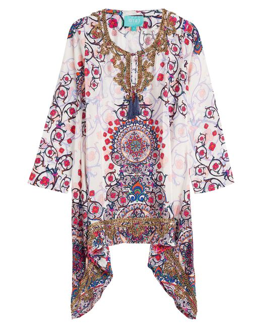 Taj | Многоцветный Printed Silk Tunic With Beading Gr. S