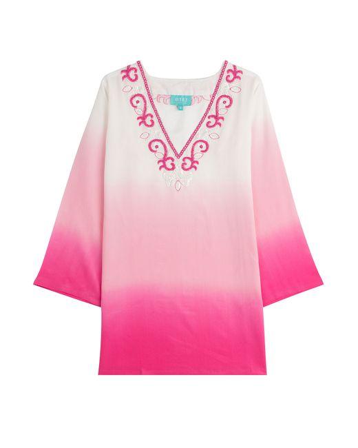 Taj | Розовый Ombre Silk Tunic With Beading Gr. S