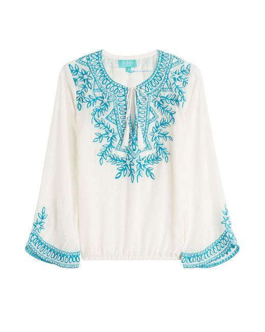Taj   Женское Weiß Beaded Silk Top Gr. S
