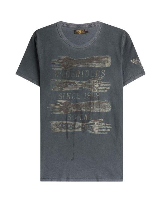 Rude Riders | Мужское Серый Rude Tattoo Cotton T-Shirt Gr. M