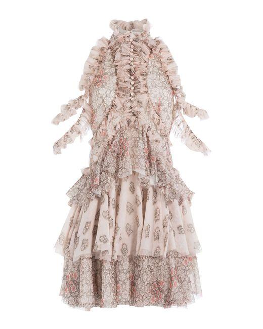 Alexander McQueen | Женское Цветочный Printed Silk Chiffon Dress Gr. It 40