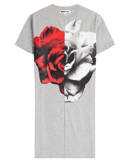 Mcq Alexander Mcqueen | Женское Серый Split Printed Cotton T-Shirt Dress Gr. S