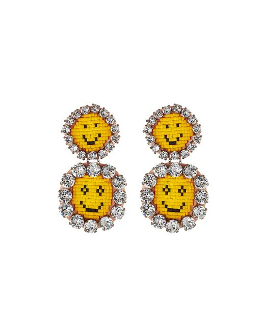 Shourouk | Женское Желтый Happy Face Extra Large Earrings Gr. One