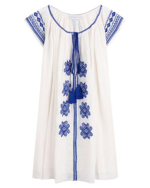Christophe Sauvat | Женское Белый Bolshoi Embroidered Cotton Tunic Dress Gr. One