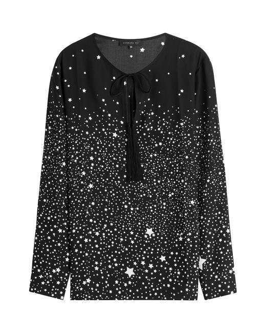 Barbara Bui | Женское Чёрный Star Print Silk Blouse Gr. Fr 36