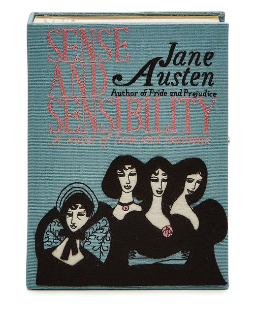 Olympia Le-Tan   Женское Синий Jane Austen Embroidered Clutch Gr. One Size