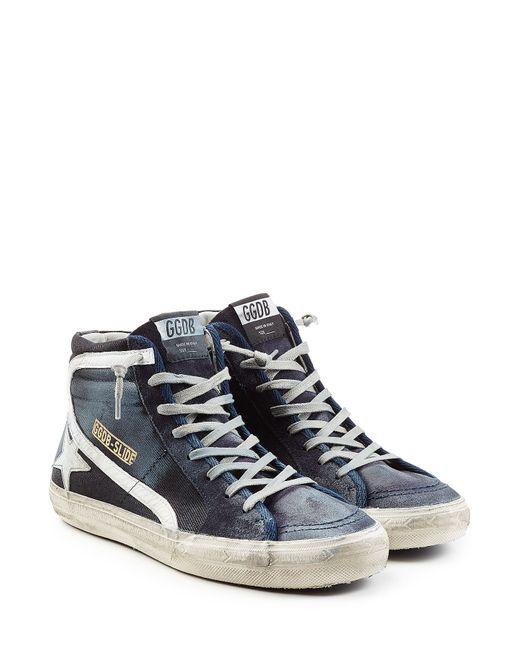 Golden Goose   Синий Slide Leather High Top Sneakers Gr. Eu