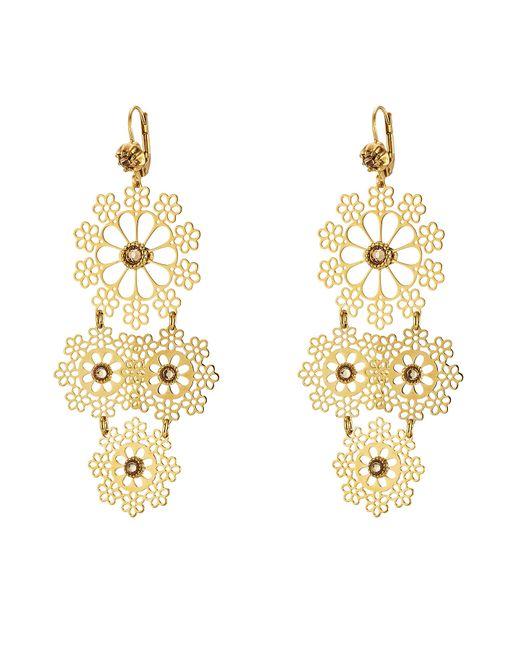 GAS BIJOUX | Женское Золотой Neige Mini 24kt Plated Embellished Chandelier Earrings