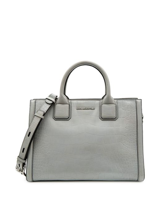 Karl Lagerfeld   Женское Серый Embossed Leather Tote Gr. One Size