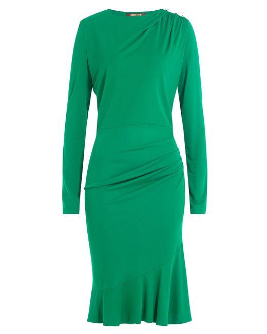 Roberto Cavalli | Женское Зелёный Draped Dress With Embellished Stars Gr. It