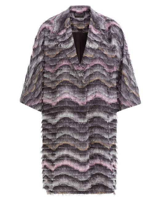 Diane Von Furstenberg | Женское Многоцветный Woven Coat With Fringe Gr. S